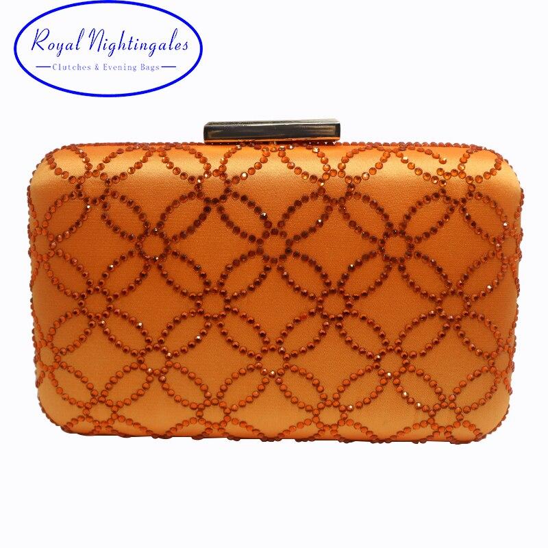 Оптовая продажа Большой Ёмкость больше Размеры Кристалл Футляр клатч вечерняя сумочка; BS010 и Клатчи оранжевый