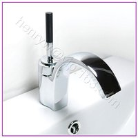 L16510 Luxury Deck Mounted Chrome Color Brass Bathroom Tap
