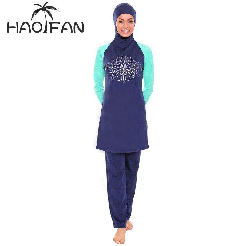 Muslimische Bademode 2018 Modest Muslimischen Mädchen Bademode Für Frauen Strand Islamischen Sport Tragen Bade Hijab Günstige Badeanzug
