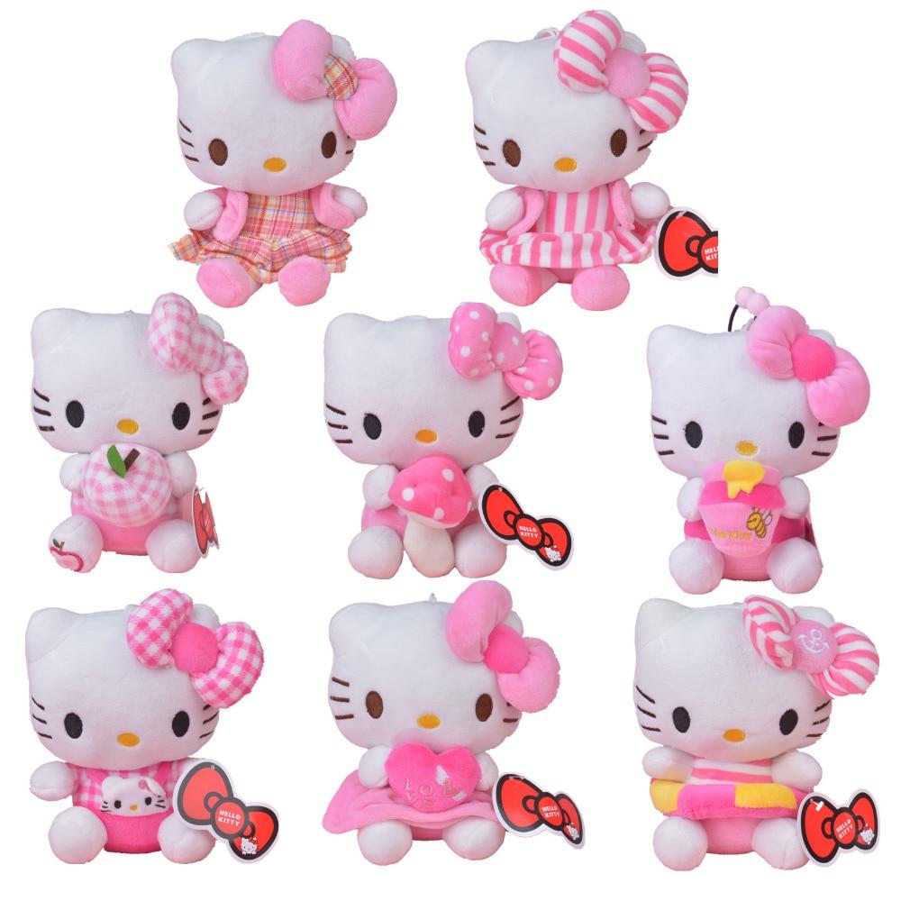 Adorable Soft Pink Dots Sleeping Hello Kitty Hold Pillow Plush Japan Tas Ransel Sekolah Anak Mediummsofie Lembut Mewah Gadis Boneka Hadiah Vairous Mainan Gratis Pengiriman