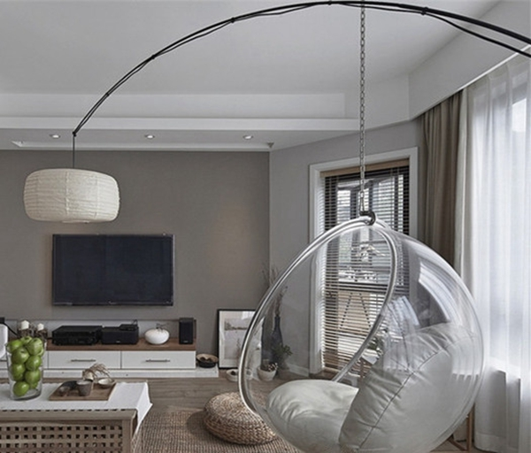 hanging chair qatar armless office uk bubble indoor swing space sofa transparent   ebay
