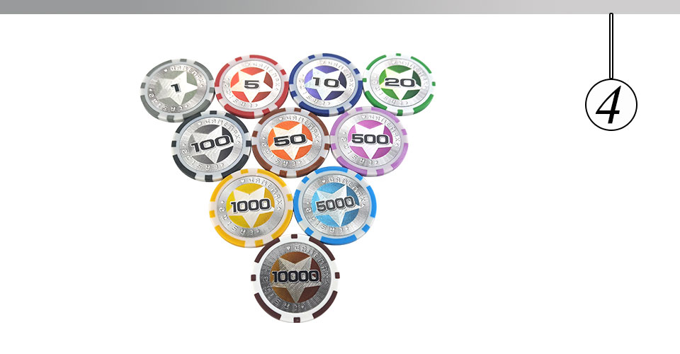 Easytoday 25Pcsset Plastic Poker Chips Set Clay Baccarat High Texas Hold'em Standard Entertainment Games Chips  (4)