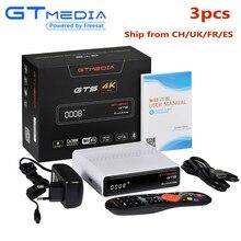 3PCS GTmedia GTS FTA Satellite Receiver DVB S2 Biss VU Receptor 2GB RAM 8GB ROM S905D 4K Android tv box Built-in WiFi CCCAM IPTV