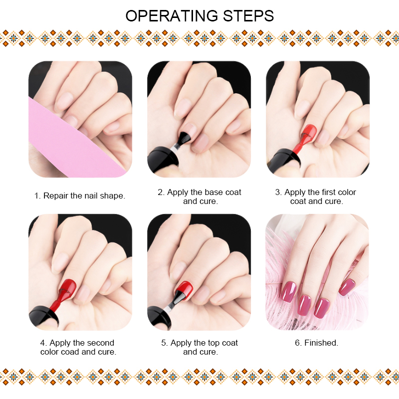 RBAN NAIL Pure Gel Varnish Color Hybrid Gel Polish 7ml Manicure for Nails Design Shining Pink Green Colors UV Nail Polish in Nail Gel from Beauty Health