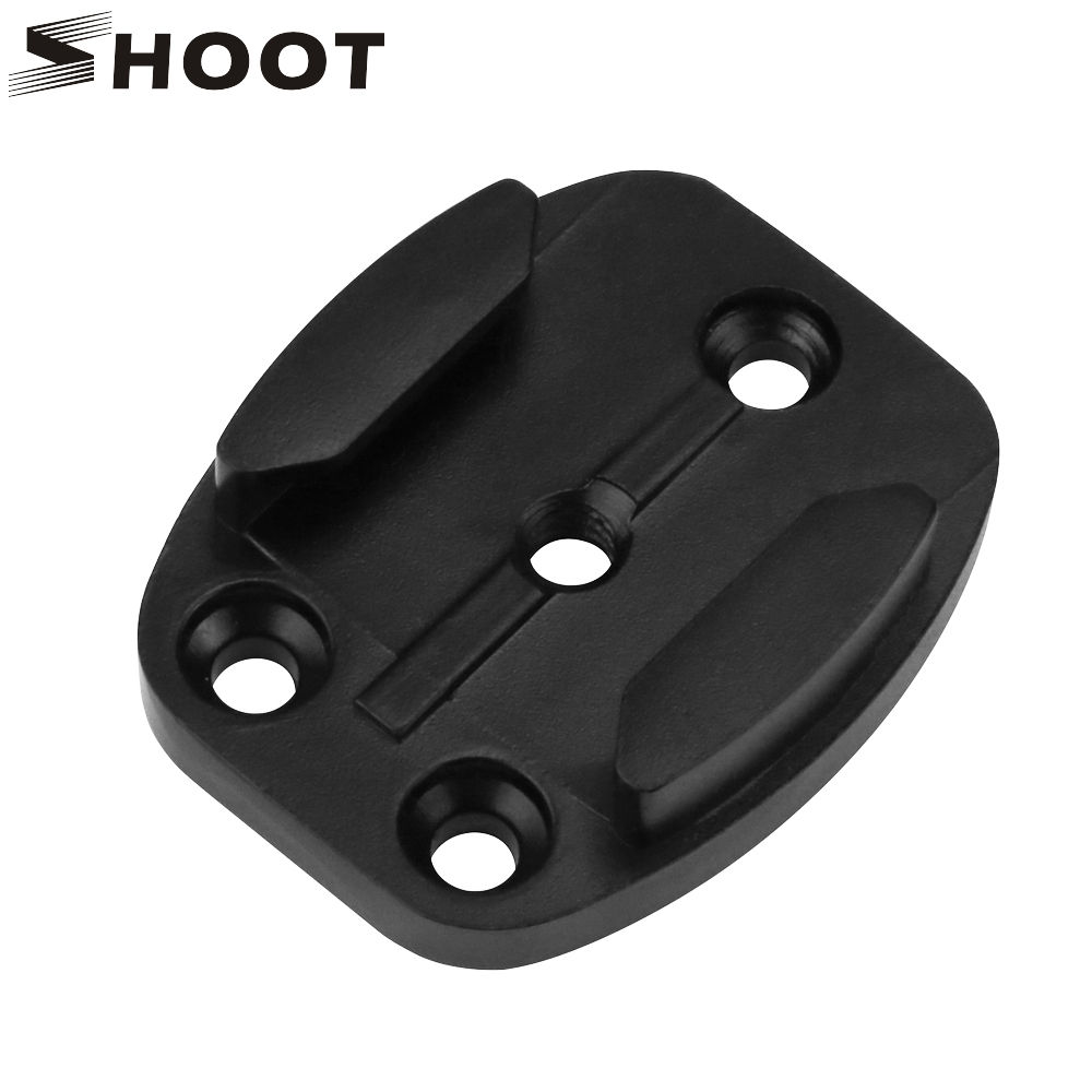 SHOOT Aluminum Alloy Flat Surface Mount For GoPro Hero 8 7 6 5 4 Black Xiaomi Yi 4K SJCAM SJ5000 M20 Eken Mount Go Pro Accessory