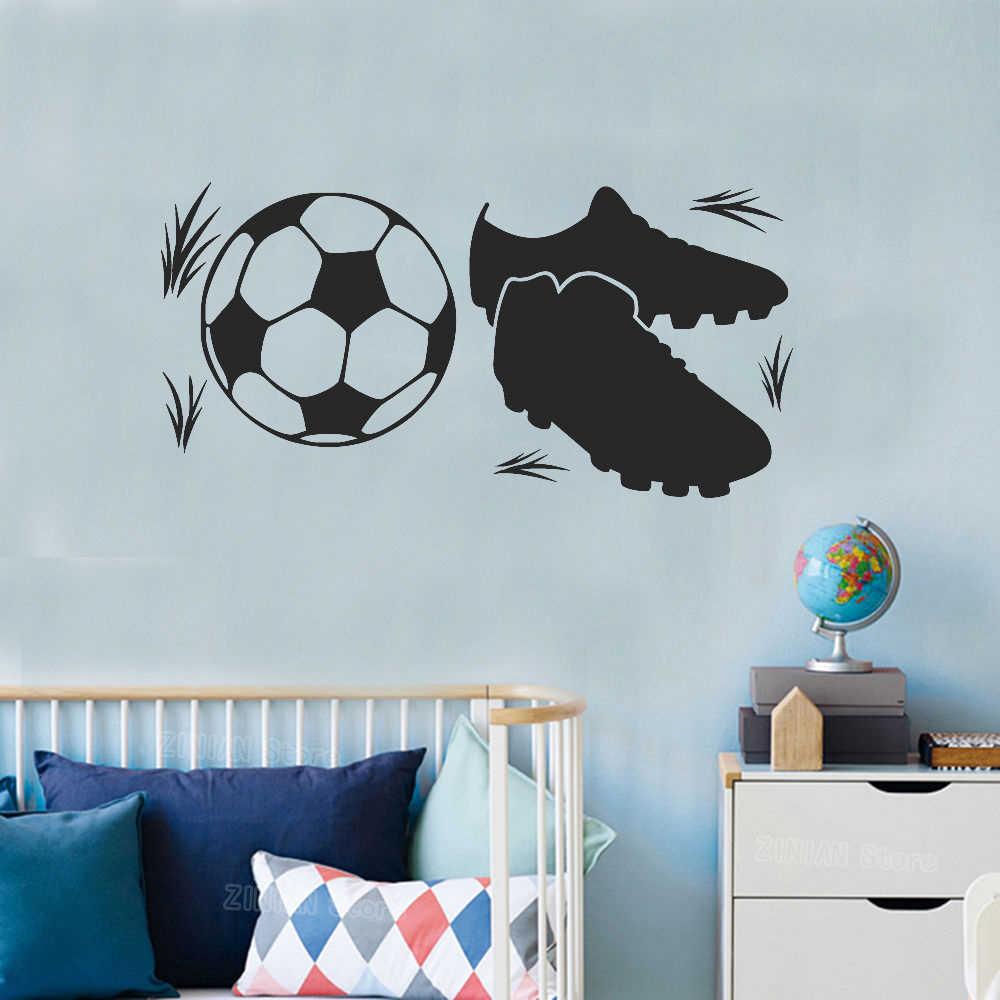 Voetbal Laarzen Muurstickers Jongens Kamer Voetbal Vinyl Muurtattoo Tienerjarenruimte Decoratie Speeltuin Behang Sport Decals Kids Z354