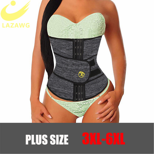 LAZAWG Women Waist Trainer Hot Thermo Sweat Neoprene Belt Waist Cincher Body Shaper Tummy Control Slimming Underwear Girdle