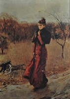 Walking In The Park In Naples - By Giovanni Boldini - Unframed