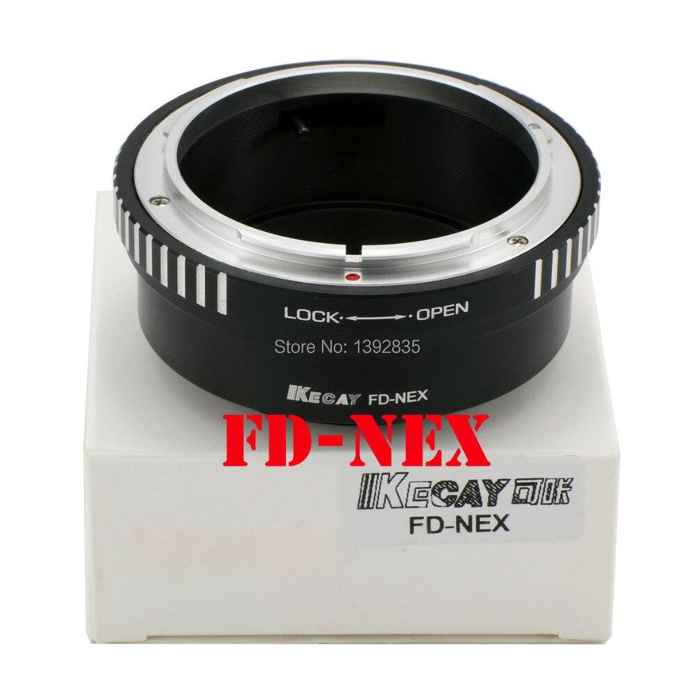 Kecay Haute-Précision FD-NEX Pour Canon FD Lens Et pour SONY NEX E Montage corps NEX3 NEX5 NEX-5N NEX7 NEX-C3 NEX-F3 NEX-5R NEX6