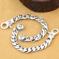Handmade Thai 925 Siilver Cross Chain Bracelet 220mm Sterling Silver Man Bracelet Jewelry Gift Man Jewelry