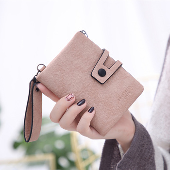Fashion Small Female Purse short purse Lady Hasp Two Fold Short Clutch Wallet Solid Vintage Women Wallet Coin Pocket Cartera