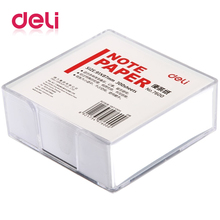 Deli 300 Sheets/ Pack White Memo Paper In Box 91x87mm Leaving Message Pad Notice Post It Notebook Office School Supplies 7600