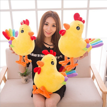 Cute Chicken Plush Toy with Colorful Tail 28cm 35cm 45cm Cartoon Kawaii Home Decoration Hen Cock Doll Baby Birthday Gifts