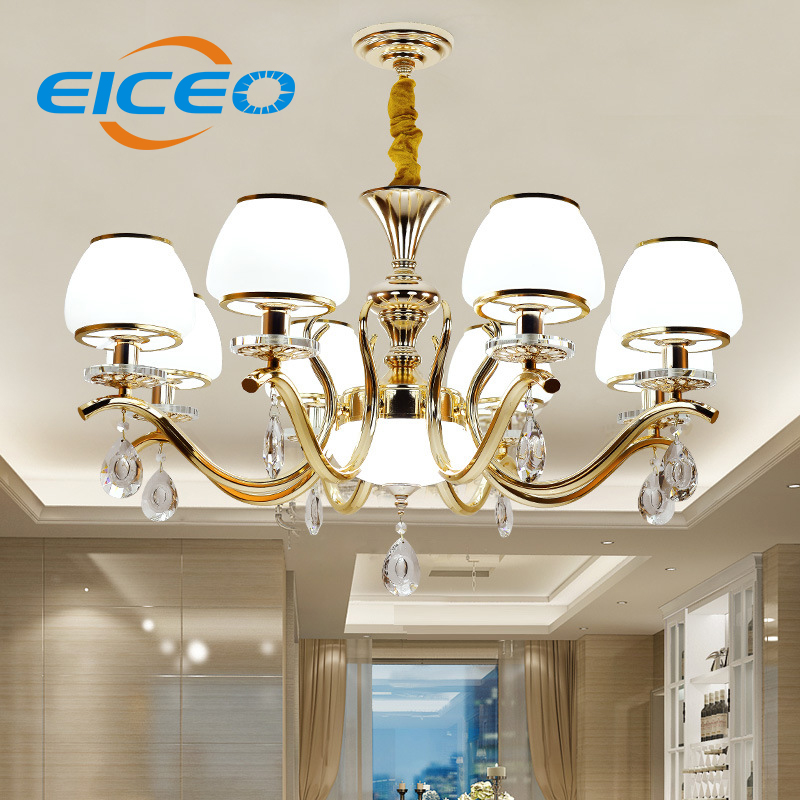 (EICEO) European Style Crystal Droplight Contemporary Contracted Sitting Room Lamps Restaurant LED Pendant Lamp Room Bedroom american rural wall lamp all copper bedroom berth lamp lens headlight corridor european contracted sitting room single head wal