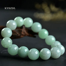 100% natural green jade bracelet 13MM Lovers jewelry gifts