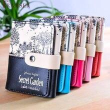 eefcbb2f2e6 Transer femmes Secret jardin mode impression porte-monnaie court  portefeuille porte-cartes sac à