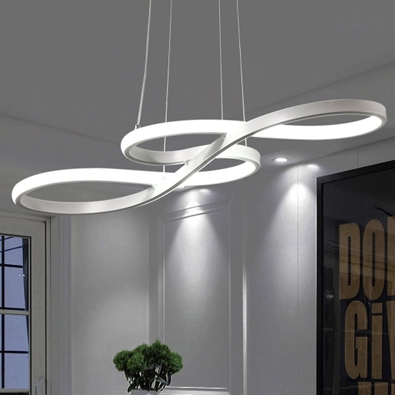 Modern led pendant lights black/white aluminum pendant lamp for living room bedroom dining room bar hanging lighting fixturesModern led pendant lights black/white aluminum pendant lamp for living room bedroom dining room bar hanging lighting fixtures