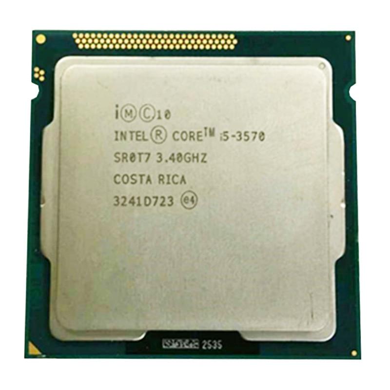 Intel core i5 3570 quad core cpu LGA 1155 3,4 Ghz verwenden H61 H67 Z77 Z68 H77 motherboard 77 w 3570 prozessor