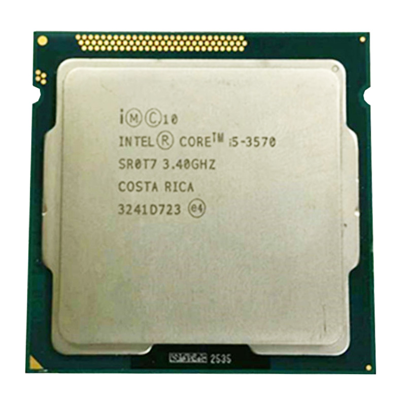 intel core i5 3570 quad core cpu LGA <font><b>1155</b></font> 3.4Ghz use H61 H67 Z77 Z68 H77 motherboard 77w 3570 processor image