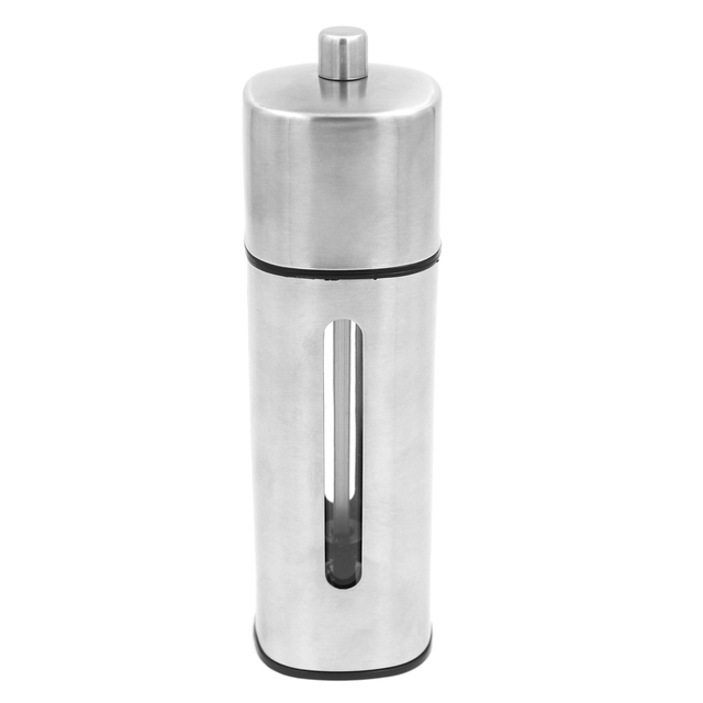 Stainless steel square pepper grinder 18 × 5.2 cm