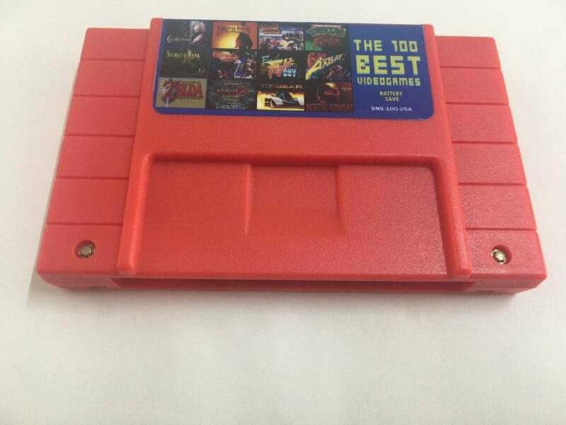 100 en 1 recopilaciones de cartuchos de videojuegos versión estadounidense en inglés para NTSC Game Player (puede ahorrar batería)