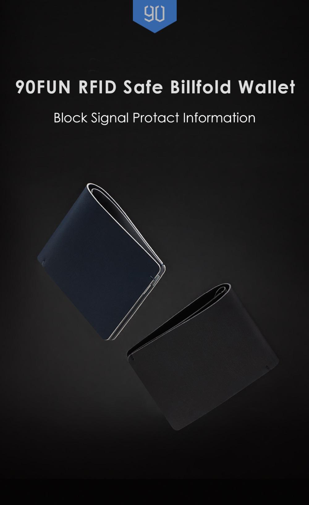 Xiaomi в 90FUN анти-кражи бумажник RFID преграждая сигнал Безопасный бумажник бумажник карта монета держатель мужчин женщин защитить кредитную карту