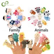 Детская плюшевая игрушка, пальчиковые куклы, реквизит для рассказов, 10 шт., животные или 6 шт., семейная кукла, детские игрушки, детский подарок, GYH