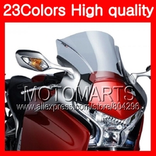 23Colors Windscreen For HONDA VFR1200 10 11 12 13 VFR1200 RR VFR 1200 RR 2010 2011 2012 2013 Chrome Black Clear Smoke Windshield