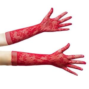 Image 3 - セクシーなランジェリーのためのロールプレイゲームレーストランスペアレントロングセックス手袋女性コスプレ花嫁エロ衣装フェチための大人のおもちゃ