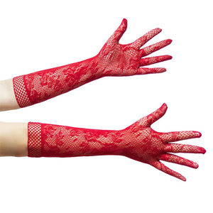 Image 3 - Sexy Lingerie For Roleplay Games Lace Transparent Long Sex Gloves Women Cosplay Bride Erotic Costumes Fetish Sex Toys For Adults