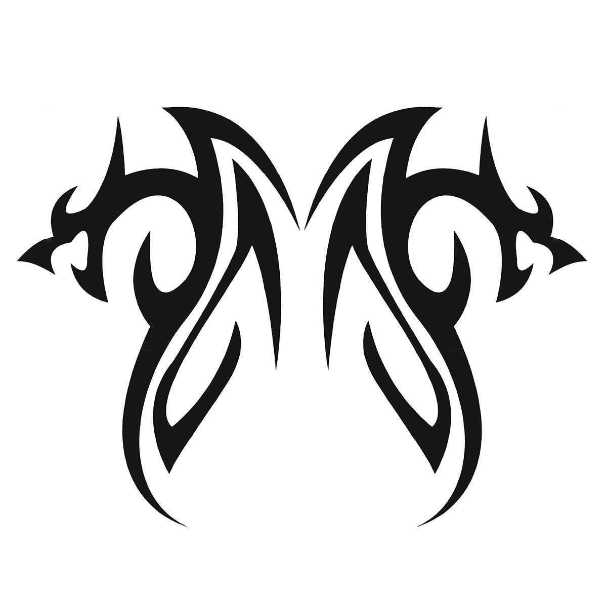 Pair car truck decal vinyl graphics stickers hood decals tribal dragon cg194