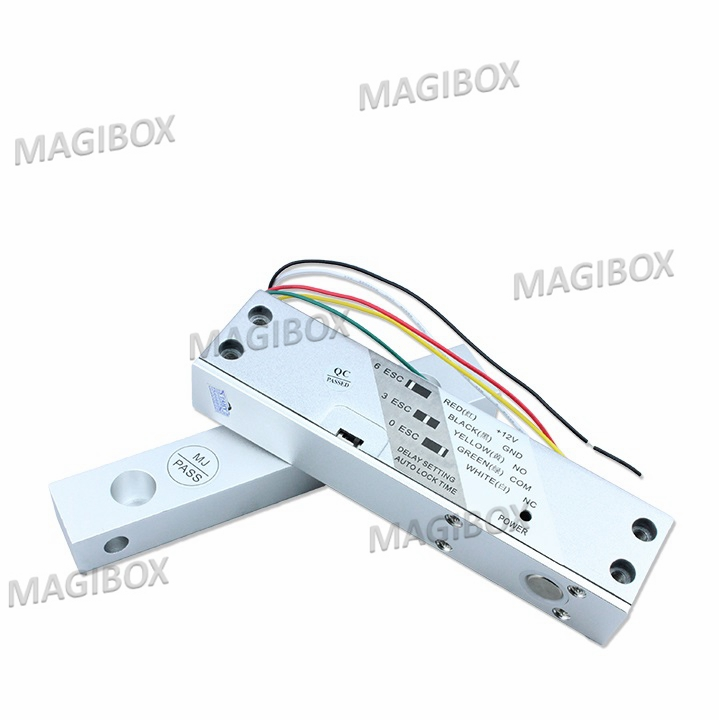 12v electric lock easy installed electric bolt lock low temperature 5 wire Adjustable delay dc 12v electric bolt lock with low temperature aluminium alloy for door controller magnetic induction electric bolt lock