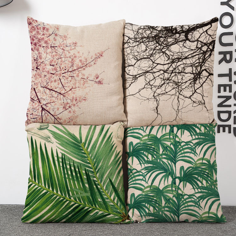 Fashion European <font><b>Home</b></font> Tree Design Decorative <font><b>Cushions</b></font> New Arrival Printed Throw Pillow Cases <font><b>Home</b></font> <font><b>Cushion</b></font>