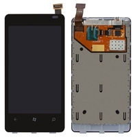100 Original For Nokia Lumia 800 LCD Display Panel Touch Screen Digitizer Frame Assembly Full Set