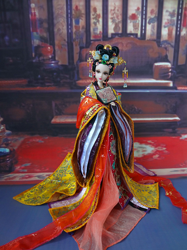 32cm Collectible Chinese Dolls Vintage Princess Doll Tang Dynasty Girl Dolls With Flexible 12 Joints Body Souvenir Gifts 35cm bjd doll empress zhangsun chinese tang dynasty beauty doll 12 jointed articulated doll brinquedos girl toy birthday gift
