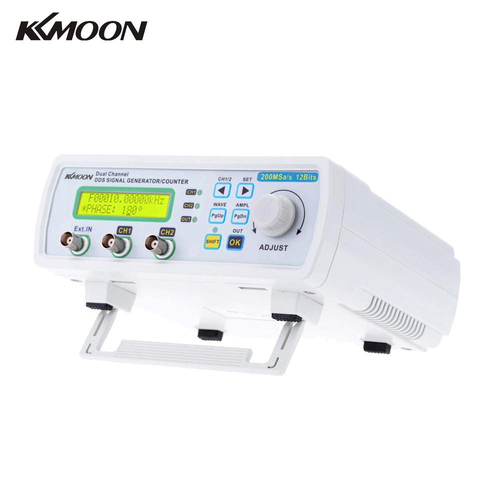 KKmoon Digital DDS Dual-channel Signal Source Generator Arbitrary Waveform Frequency Meter 200MSa/s 25MHz