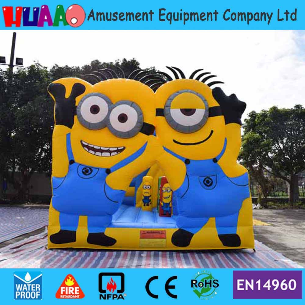 2017 New Minions Inflatable Bouncy Castle with Slide