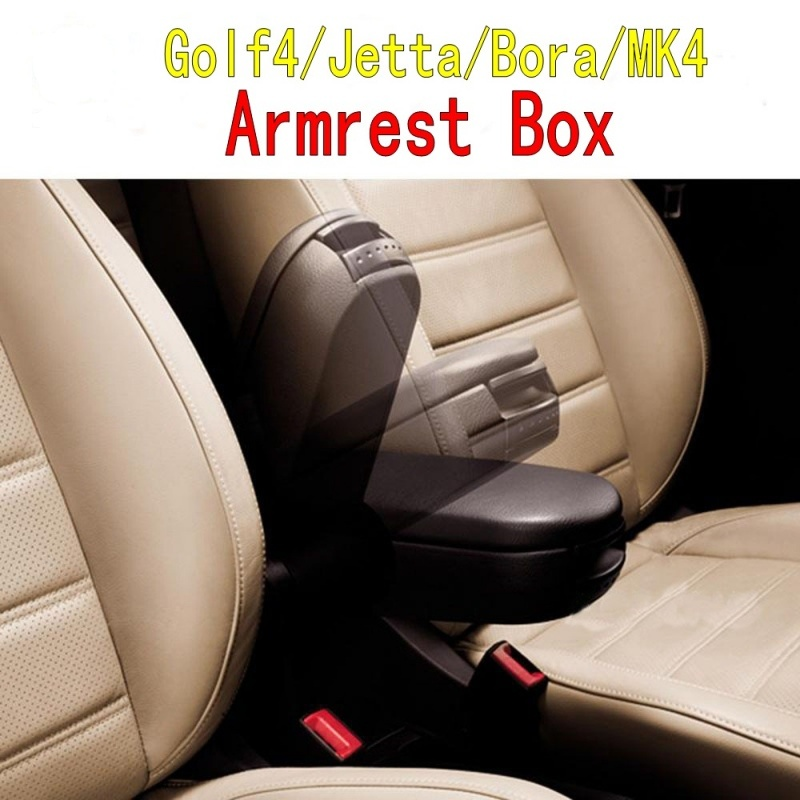 ФОТО For VW MK4 Golf 4 Jetta Bora Armrest Box Center Console Box Arm rest 1999--2004