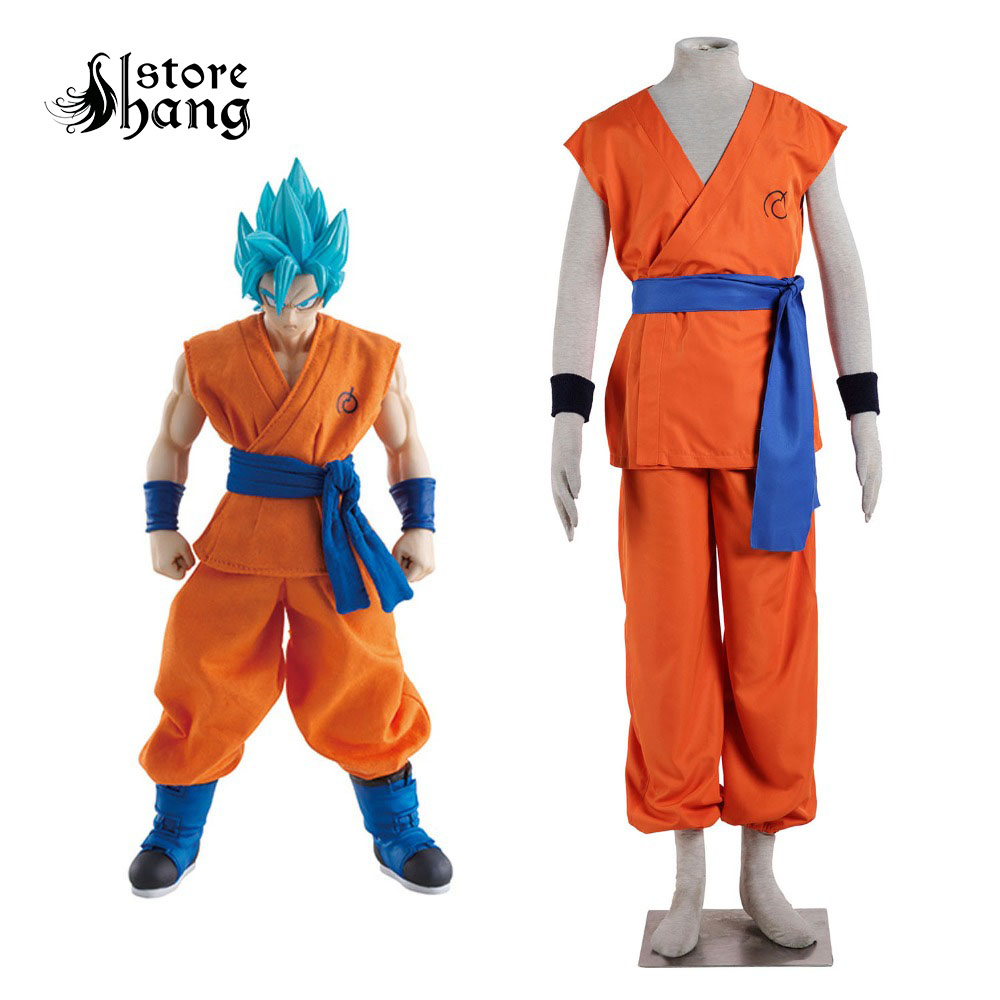 Dragon Ball Super Saiyan God Super Saiyan Kakarotto Cosplay Costume SSGSS Goku Costume Trademark Time Patroller Suit Fancy Dress