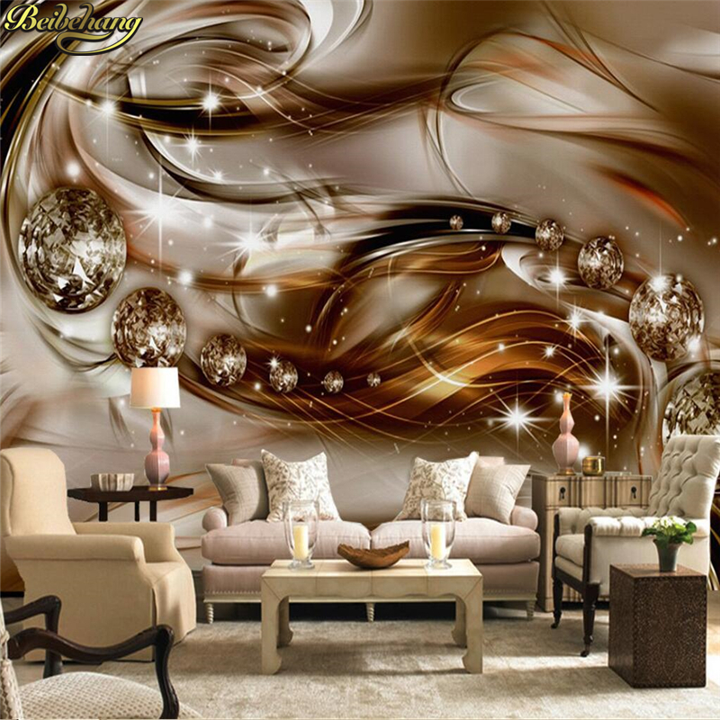 beibehang Custom Photo Wallpaper Mural Wall Sticker European Style 3D Precious Silk Diamond Living Room TV Background Wall beibehang custom european victoria photo
