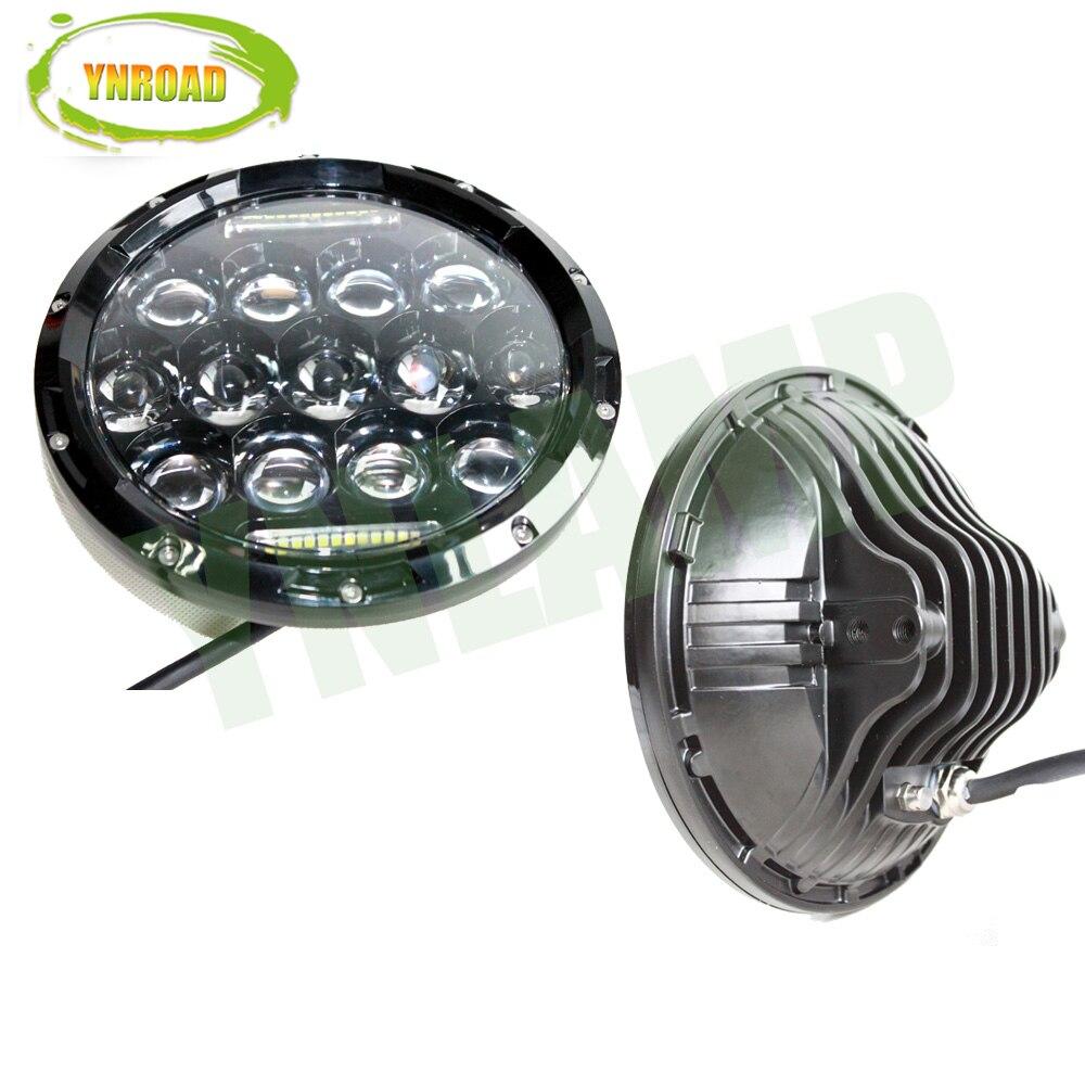 YNROAD Pair 75W Hi / Balok Rendah 7 inch 13pcs * 5w + 10WD RL Led - Lampu mobil - Foto 3