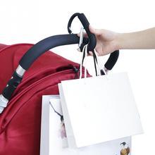 High Quality Aluminium Black Hook Baby Stroller Hooks Shopping Bag Hanger Stroller Accessories