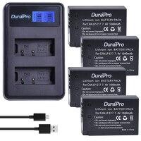 DuraPro 4Pcs 7 4V 1040mAh LP E17 LPE17 LP E17 Battery LCD USB Charger For Canon