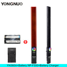 YONGNUO YN360 III YN360III Handheld Stick LED Video Light Touch Adjusting Bi-colo 3200k to 5500k RGB Fill lighting  with Remote
