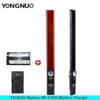 YONGNUO YN360 III YN360III Handheld Stick LED Video Light Touch Adjusting Bi colo 3200k to 5500k RGB Fill lighting with Remote