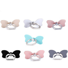 UVR Reusable Bow Tie Finger Ring Smartphone Stand Holder Mobile Phone Holder Stand For iPhone iPad