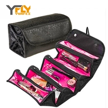 Y-FLY 2016 Fashion Nylon Waterproof Makeup Bag Cosmetic Cases Box Lady Cosmetic Bags Travel Bag Toiletries Ladies Bolsas HB021