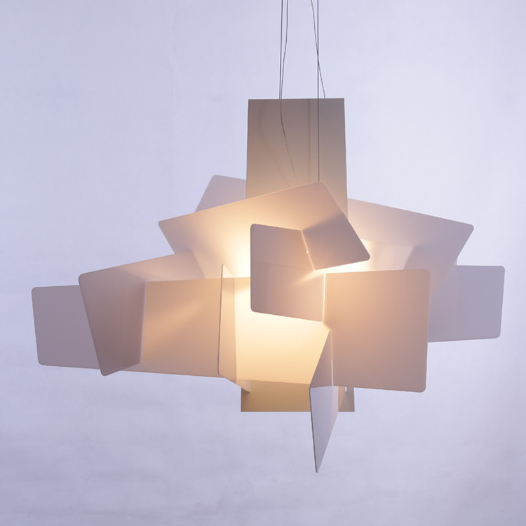 Modern Big Bang Suspension Led Pendant Light White Red Stacking Acrylic Ceiling Lamp Home Decorative Fixture In Lights From