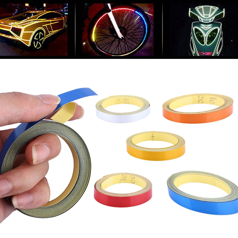 Warning Stickers Waterproof Warning Tape Auto Car Motorcycle Reflective Material Reflective Roadway Safety Accessories