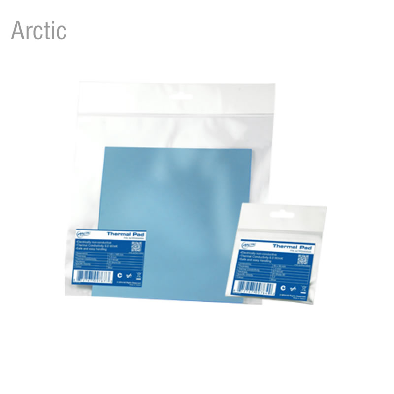 Arctic 145mmx145mmx0.5mm/1.0mm/1.5mm thermal conductivity Graphics card memory thermal pad thermal silicone gasket thermal conductivity of cross linked polymers